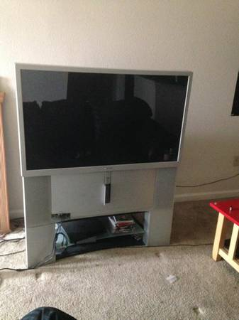 46 tv with dvd player - $80 (Dakota ranch)