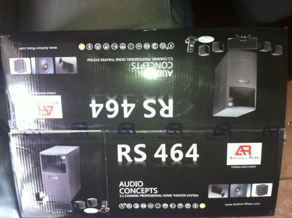 Ashton-Ross RS 464 home theater system - $650 (San Marcos)