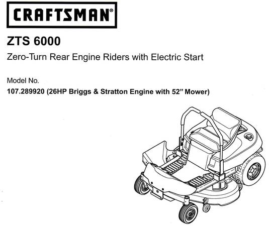Sears Craftsman Rear Engine Riding Mower For Sale