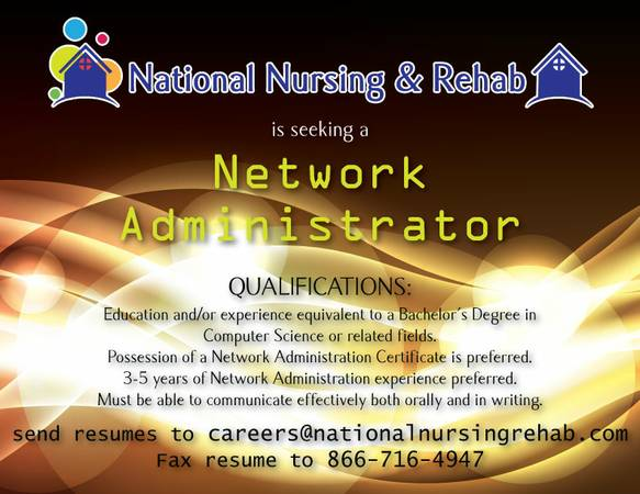 Network Administrator Needed for Home Health Agency  San Antonio