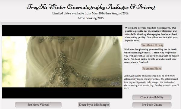 Affordable Cinematic Wedding Packages (Long Beach)