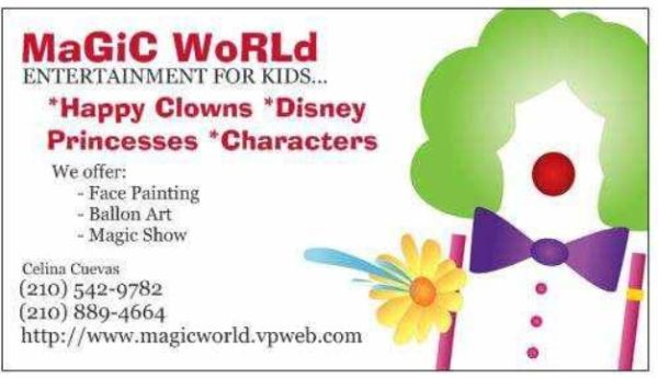 98299829 FACE PAINTING, BALLOON ART MAGIC SHOWS 98299829 (San Marcos, Austin San Antonio )