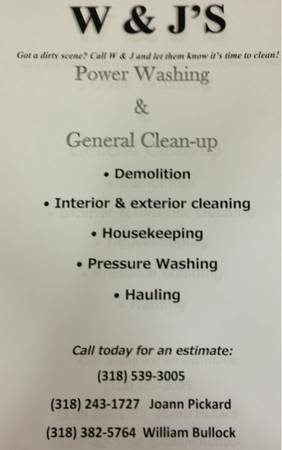 General Clean up