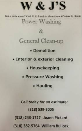 General Clean Up (Springhill-Shreveport)