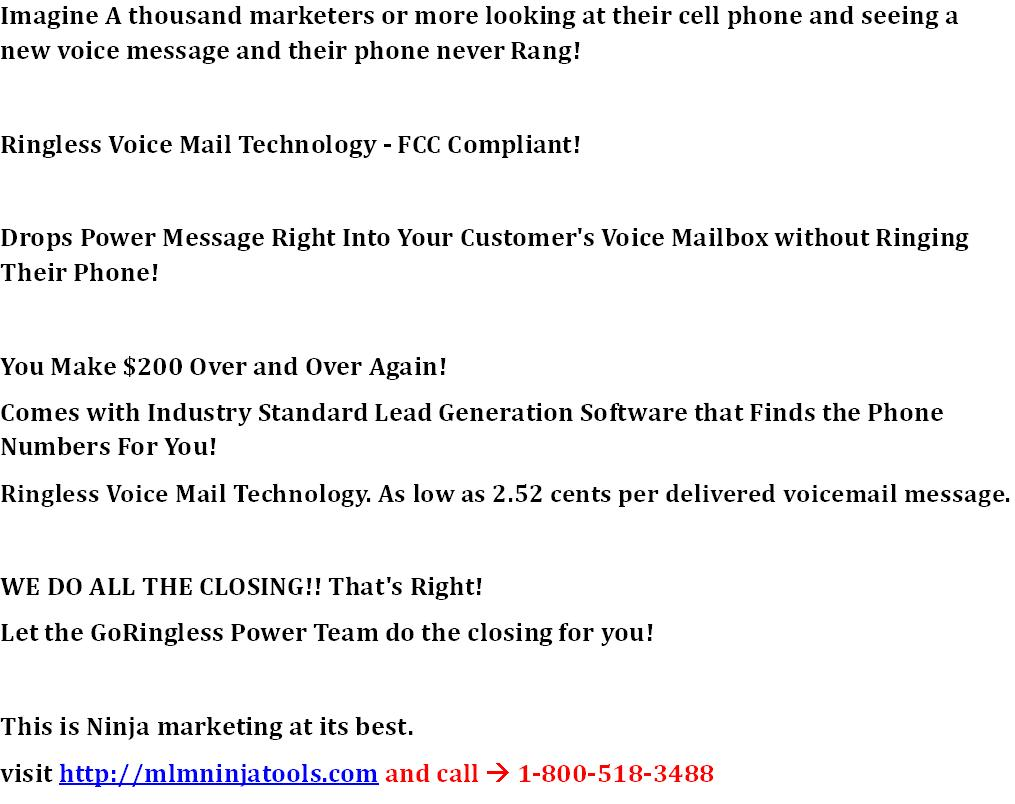 Send Thousands Of Voice - Mail Messages In Minutes Without Ringing Their Phone