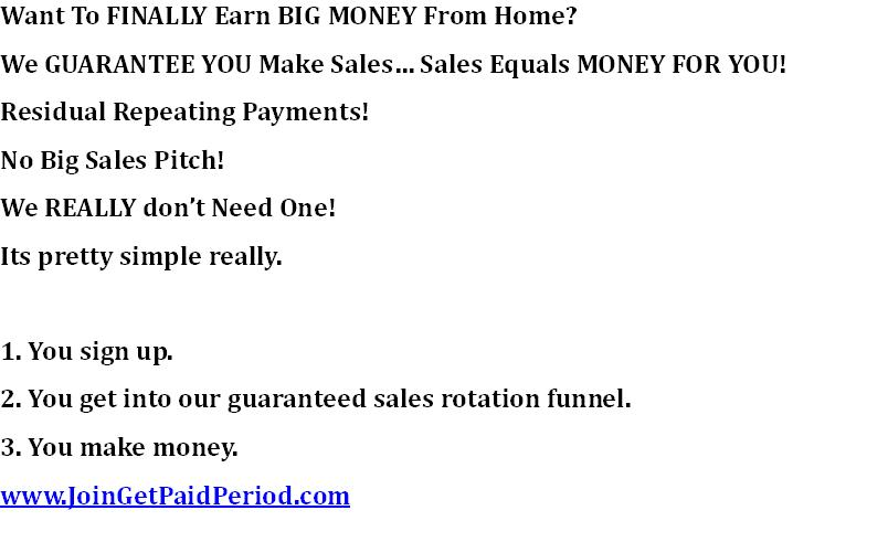 We GUARANTEE That We Will Get YOU Sales YOU Keep The Commissions