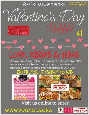 Valentine s Day Raffle  entry  1   shreveport
