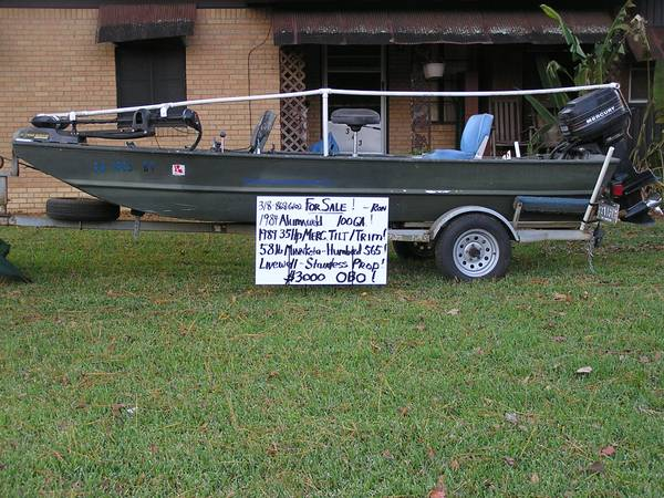 1984 Alumaweld 15 48wide 100ga Aluminum Bass Duck Boat - $2500 (Shreveport, Broadmoor)