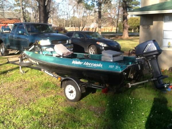 LOOK 18hp 14 water moccasin boat - $4500