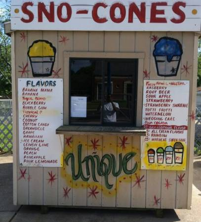Snow Cone Stand FOR SALE TURN KEY READY - $3000 (Shreveport, La)