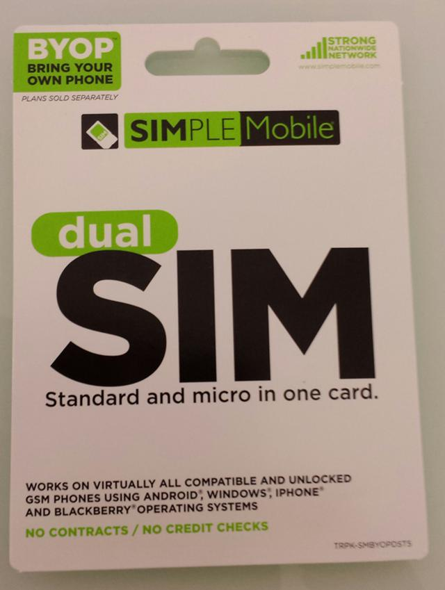 FREE Brand new Simplemobile simcard for your t-mobile phone