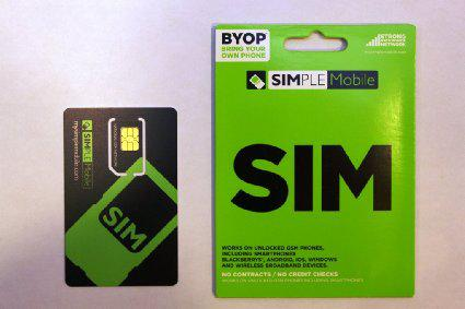 FREE Simple mobile blank simcard