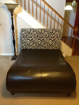 Full size Zebra Print Chaise Lounge - $400 (Pickup in Haughton, La)