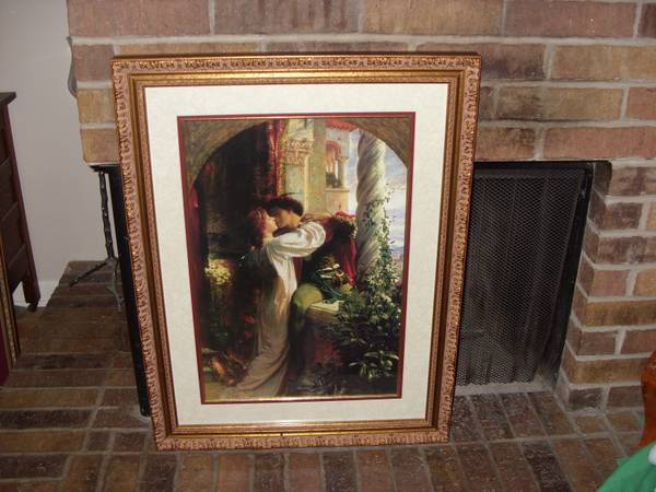 Beautifully framed 24 x 32 Romeo Juliet - $30 (SE Sport or Downtown)