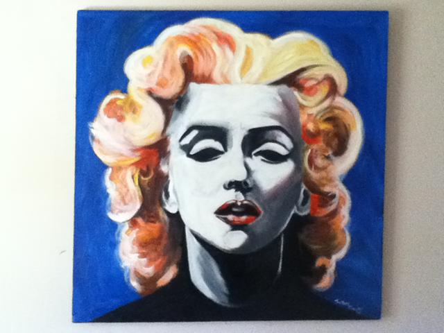 1 200  Marilyn Monroe Original Oil Painting for sale