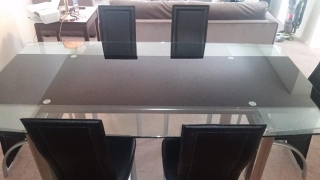 300  Glass Top Dinning Room Table