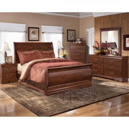 5pc Bedroom Group by Ashley in deep cherry...JUST $599 - $599 (SHREVEPORT)