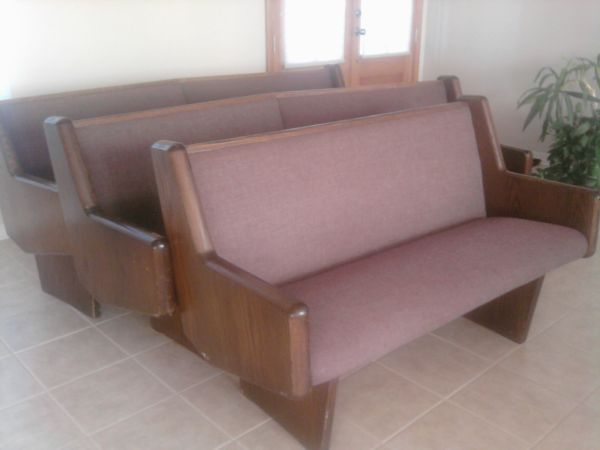 padded church pews for sale