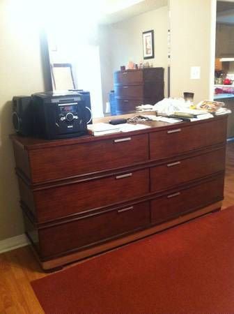 wood dresser with mirror from Ashley Furniture - $600 (south bossier)