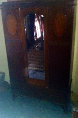 REDUCED SAVE $$$ ANTIQUE WOOD 1920s ARMOIRE WARDROBE CLOSET STORAGE WALNUT78 - $845 (SHREVEPORT, LA)