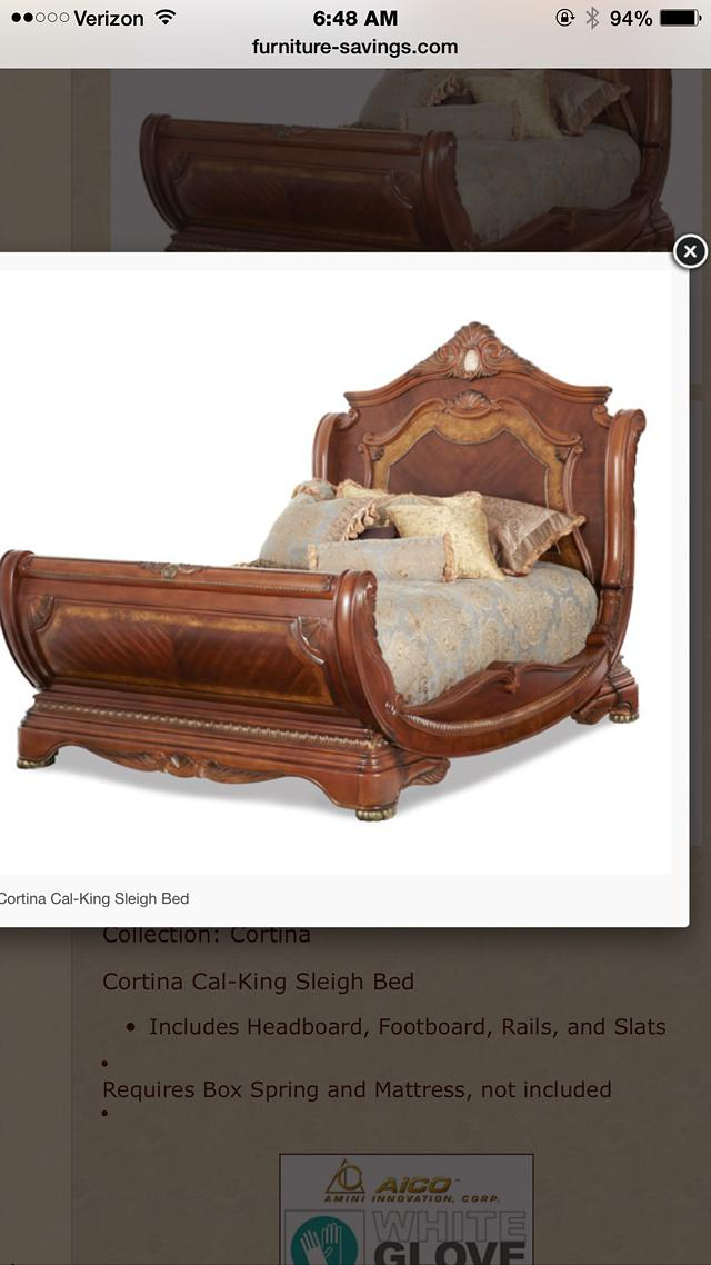 5 piece eastern king sleigh bed set