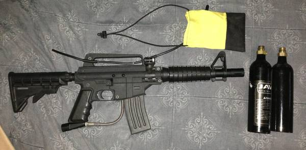 Tippmann Alpha Black paintball gun w E-Trigger upgrade - $140