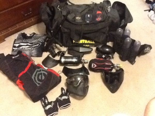 Paintball guns and equipment