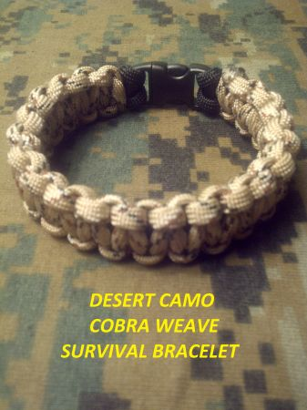 550 PARACORD DESERT CAMO SURVIVAL BRACELET - $6 (Shreveport Bossier City)