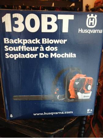 BRAND NEW Husqvarna Backpack Blower. $240tax at Lowes - $210 (Bossier City)
