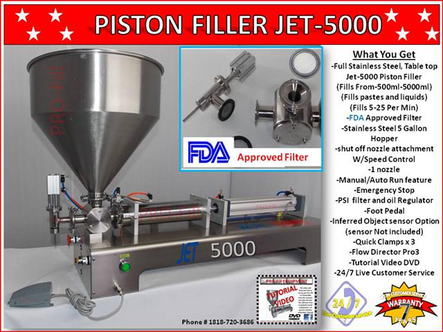 2 609  Jet-5000 Piston FillerFilling machine