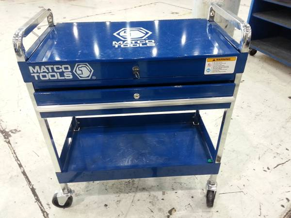 BLU SERVICE CART W LID,DRAWER($300 value from MATCO tool) - $150 (shreveport)