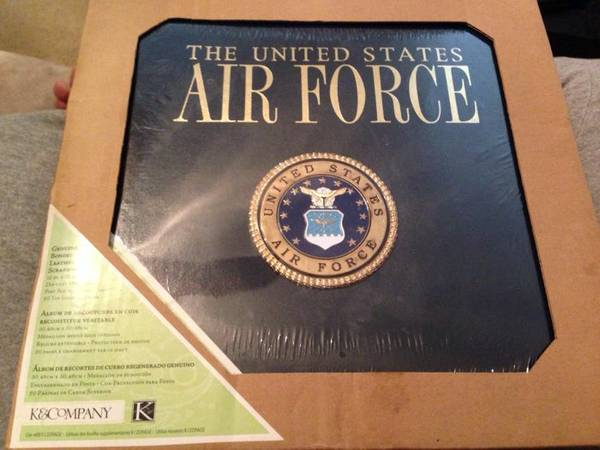 12x12 leather Air Force scrapbook - x002435