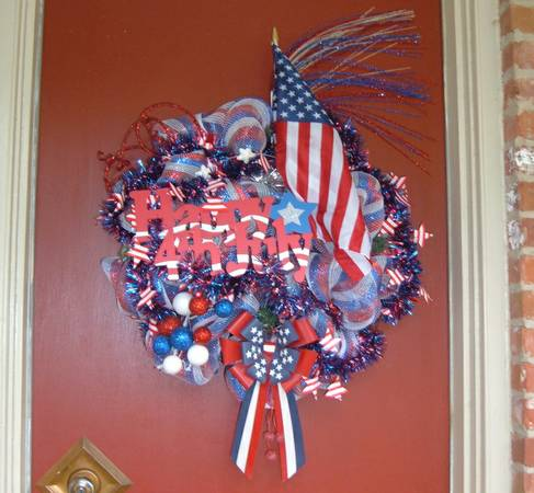 Fourth of July Wreath (East Shreveport)