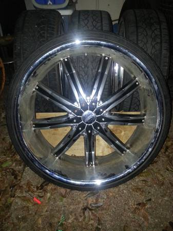 26 Universal 5 Lug Dcenti Rims Wheels with new 25530ZR26 tires - $1500 (Bossier City)