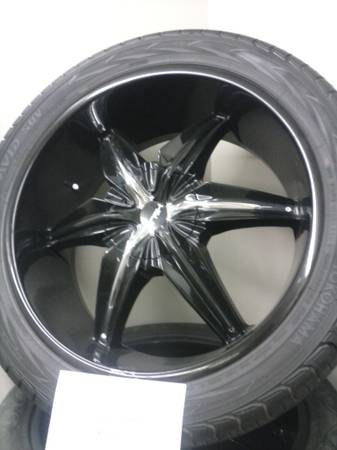 22in HELO rims black and chrome - $825 (shreveport)