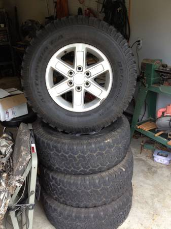 Tires and Rims - GMC 17 with BFG 28570r17 - $600 (Haughton)