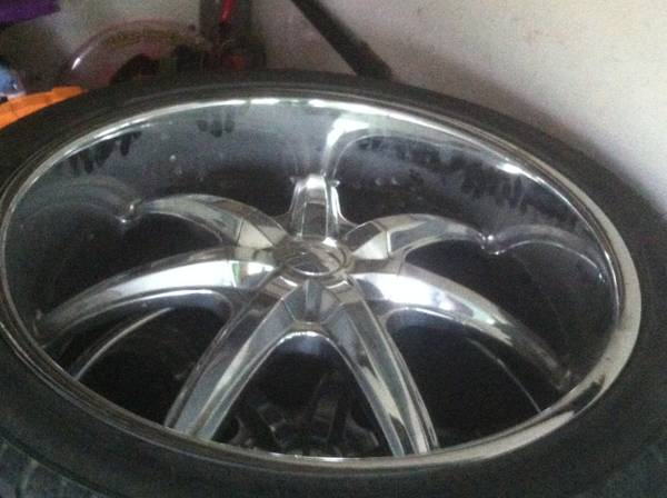 24 inch rims and tires 6 lug - $1100 (shreveport)