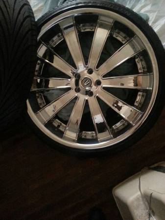 24 inch versante rims and tires - $1500