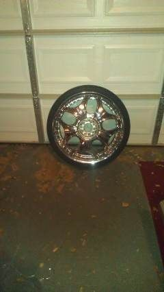 22in rims and tires 5-lug universal - $700 (Shreveport LA)