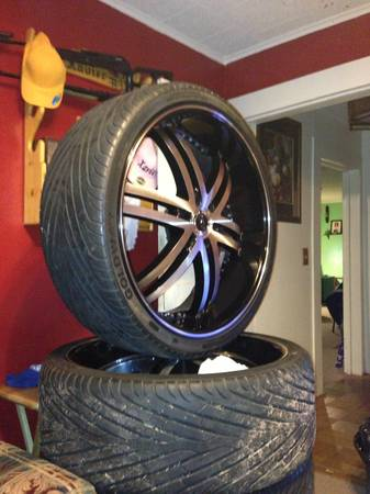 26 inch Status Alloy Knight 6 wheels and tires - $2100 (Grand Cane, Louisiana)