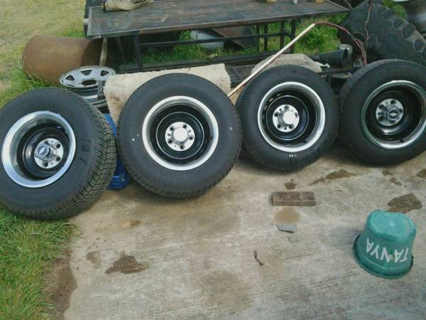 Chevy Rally 15x8 Wheels and like new tires. - $500 (Jamestown La.)