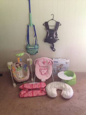 Bumbo, Bouncer, Swing, Johnny jump up, chest rig, bed sleeper, boppy, shopping c - $1