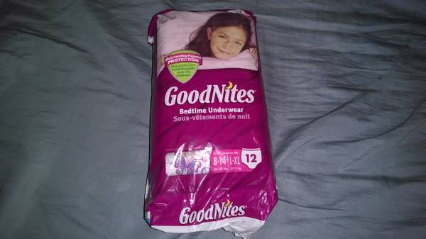 20 pkgs Brand New, never opened Huggies Goodnites for Girls, L-XL - x0024150 (Minden, Louisiana)