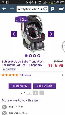 New baby trend flex loc carseat base - $65