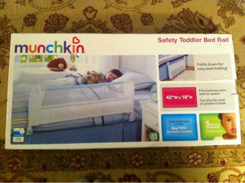 Munchkin toddler bed rail - $10 (North bossier)