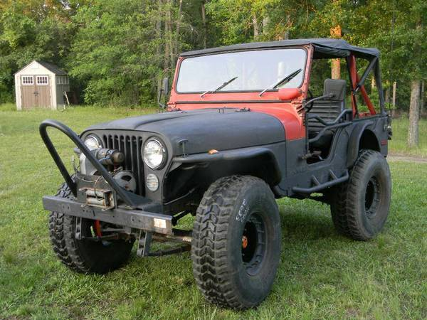 75 Jeep CJ5 304 V-8 3 spd 37 tires - $4600 (Donaldson)