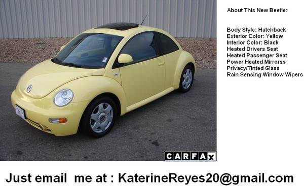 Beauty 2001 Volkswagen New Beetle GLX 1.8T   - $1850