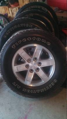 stock gmc rims and tires - $500 (keithville)