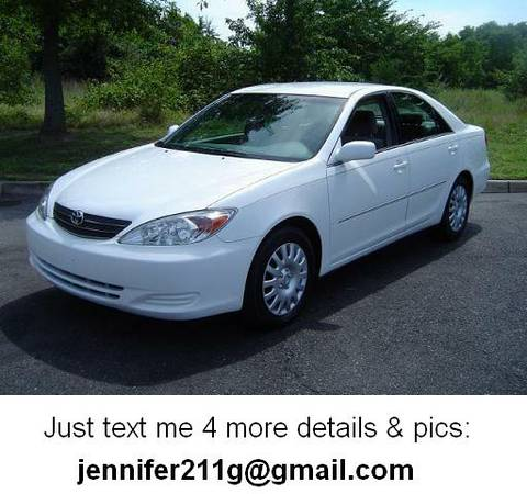 STRONG 2OO2 TOYOTA CAMRY XLE - $2172