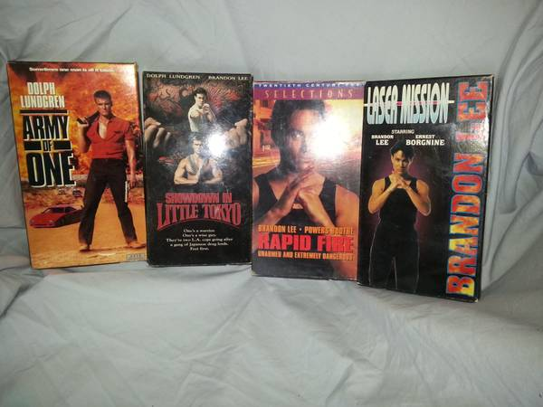 Dolph Lundgren  amp  Brandon Lee  Action VHS -   x0024 8  plain dealing